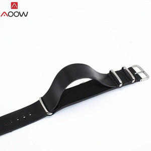 PU Leather  Watchband Strap NATO Leahter Watch band 18mm 20mm 22mm 24mm Watch Accessories High Quality