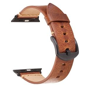 New Watch Band Straps 42mm Oil Wax Natural Crack Leather Dark Brown Light Brown For Apple watch iwatch
