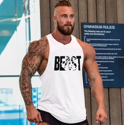 Tank Top Men Bodybuilding Clothing and Fitness Sleeveless Shirt Sports Vests Cotton Singlets Muscle Top
