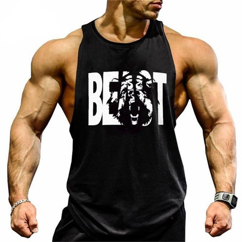 Gym Stringer Tank Top Men Bodybuilding Clothing and Fitness Sleeveless T-Shirt For Men