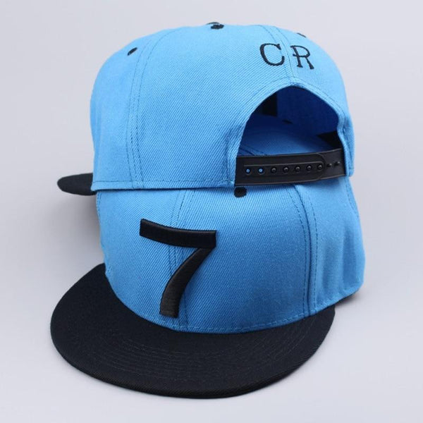 2019 Cristiano Ronaldo CR7 Black Blue Baseball Caps hip hop Sports Snapback cap for men