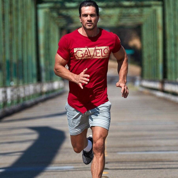 Mens Cotton Printed t shirt Summer Gyms Fitness Workout Short sleeve T-Shirts Male Fashion Casual Slim Tees Tops Brand Clothing