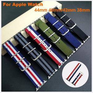 Nylon Band For Apple Watch  44/40mm watchband for iWatch 1 2 3
