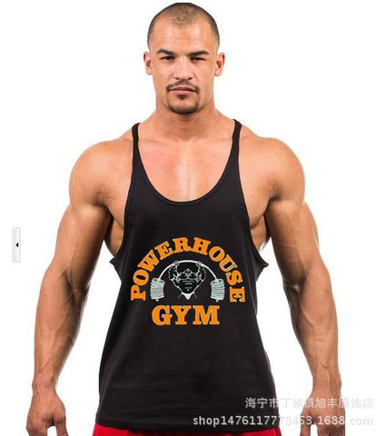 men's vest bodybuilding clothing gym sports training deep digging muscle cotton vest