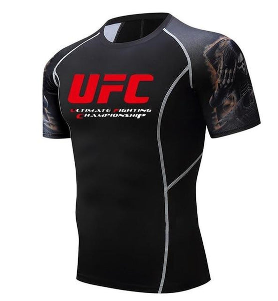 MMA Man T-shirts Ultimate Fighting Championship UFC men t Shirt Compressione Bodybuilding Casuals t-Shirt