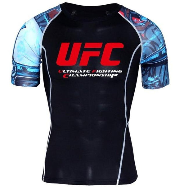 MMA mannen T-shirts Ultimate Fighting Championship Ufc Men Compressione Shirt Casuals t-Shirt MMA Crossfit Fitness Top