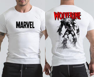 New Wolverine T Shirt Casual Printed Short sleeve T-shirts Men Gyms Workout Tee Cotton Fitness Clothing Male Crossfit Tops