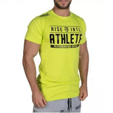 Men Cotton Slim T-shirt Gyms Fitness Bodybuilding tshirt Summer Casual Black Print Male Tee shirt Tops Crossfit Workout Clothing