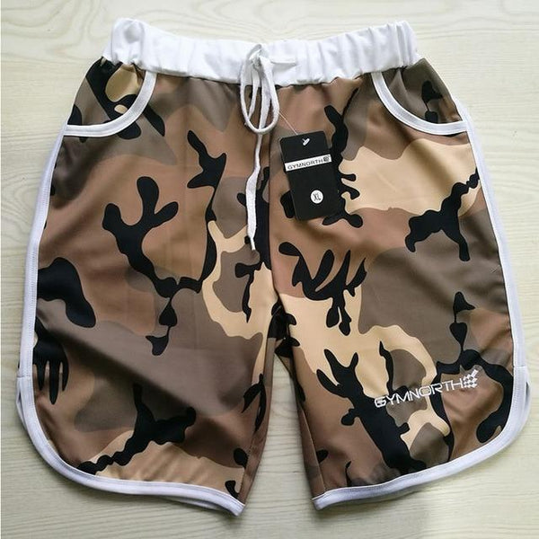 Men Fitness Bodybuilding Camouflage Shorts 2018 Man Gyms Workout Short Pants Male Summer Casual fashion Beach Jogger Sportswear