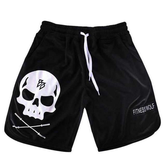 Men Running Jogging Sports Shorts Gym Fitness Loose Breathable Mesh Male Workout Training Beach Quick dry Short Pants