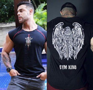 Gym Bodybuilding & Workout Bulking Print Cotton T-shirt For Men