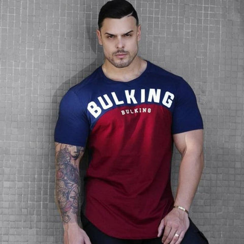 Gyms Fitness Bodybuilding Workout t shirt Male Summer Casual Fashion Gym Tee