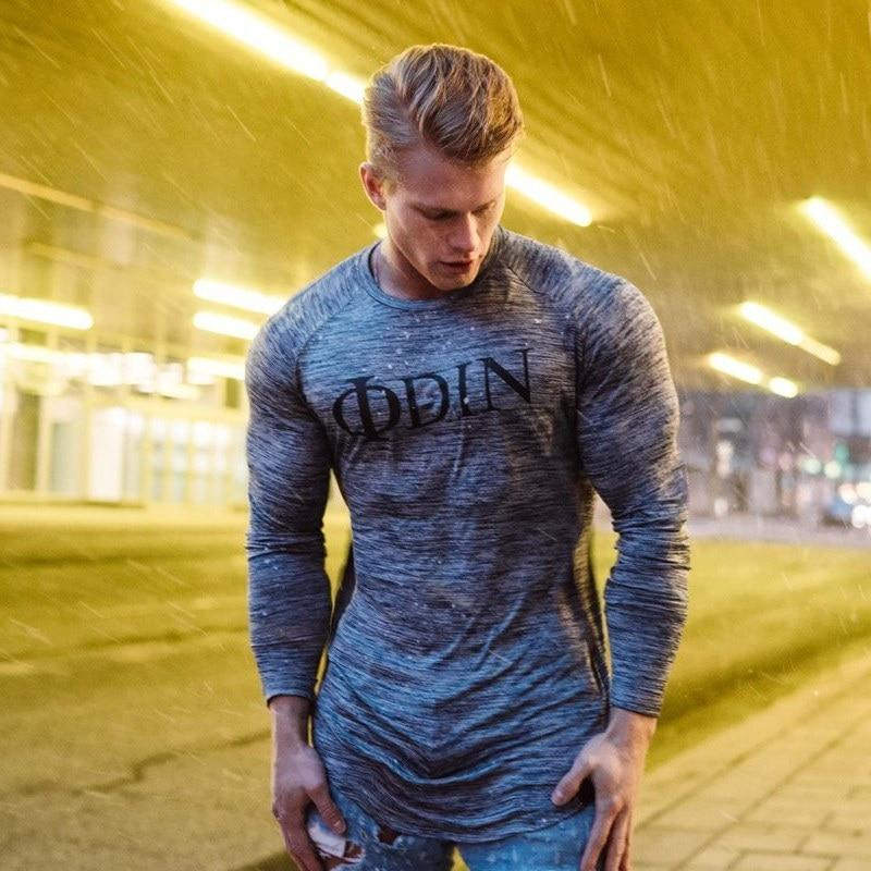 Male Casual  Long sleeve dry t shirt  T-shirt For Men