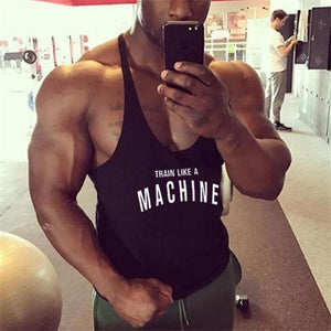 Mens gyms stringer tank top fitness vest canotta bodybuilding clothing muscle tanks singlet cotton workout Sleeveless shirt