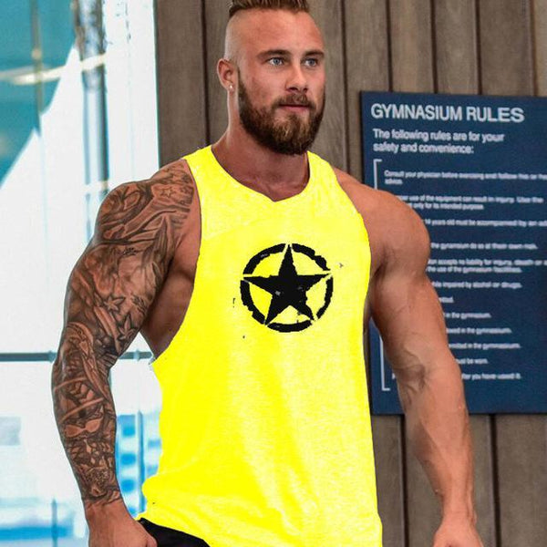 Muscle New fashion cotton sleeveless shirts tank top men Fitness shirt mens singlet Bodybuilding workout gym vest fitness men