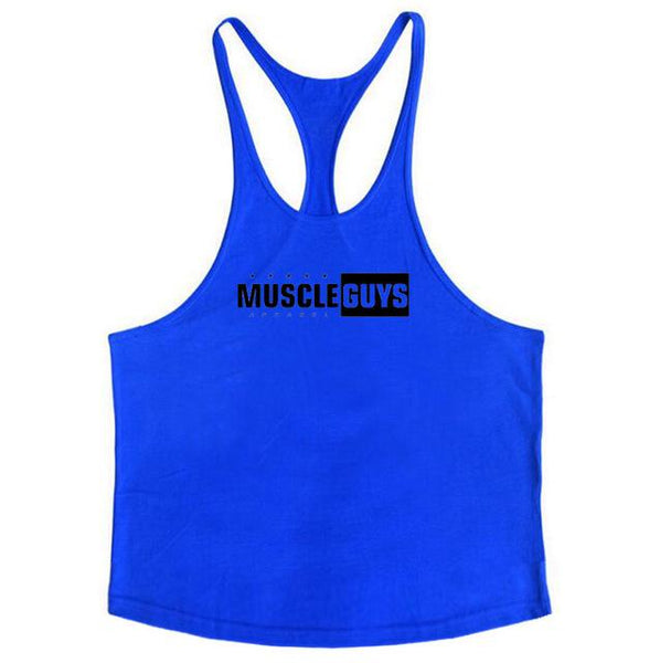 Muscleguys Fitness apparel bodybuilding stringer tank top mens gyms clothes vest cotton sleeveless shirt