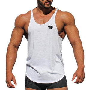 Muscleguys Summer fitness tank tops men gyms stringer mens canotta bodybuilding shirt vest sleeveless shirt cotton clothing