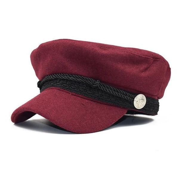 NEW Autumn octagonal hats for women flat military baseball cap ladies solid caps women casual