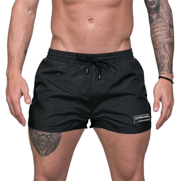 New Men Gyms Bodybuilding Fitness Shorts Summer Casual Thin Cool Beach Short Pant