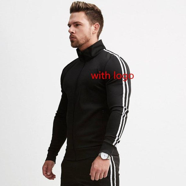 New Men's Jackets Autumn Winter Zipper Cotton Coats Sweatshirts Man Outerwear Casual Fashion Brand Male Jogger Workout Clothing
