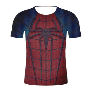 New Summer 3D Spiderman Men T Shirt Fashion Compression Marvel Comics T-shirt Men Fitness Crossfit Bodybuilding Gym Clothing