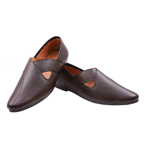 Treemoda Brown Ethnic Mojari for Men/Boys