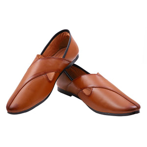 Treemoda Tan Ethnic Mojari for Men/Boys