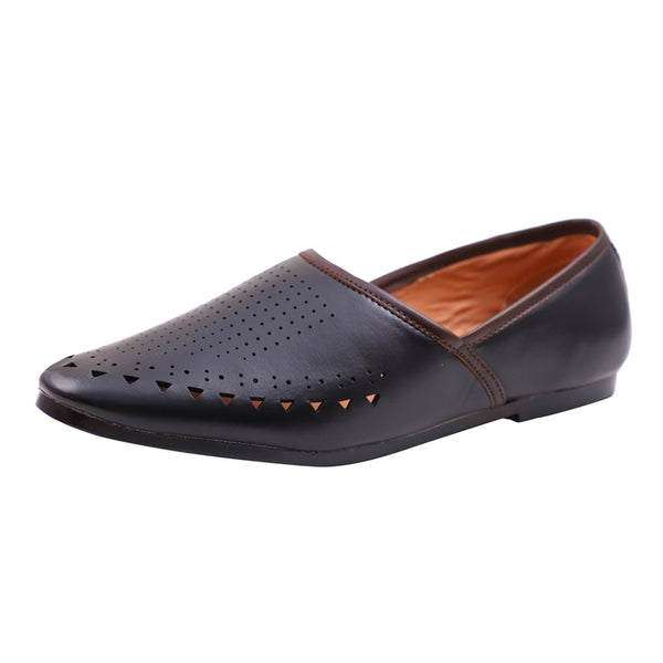 Treemoda Black Ethnic Jutti for Men/Boys