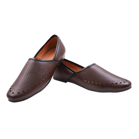Treemoda Brown Ethnic Jutti for Men/Boys