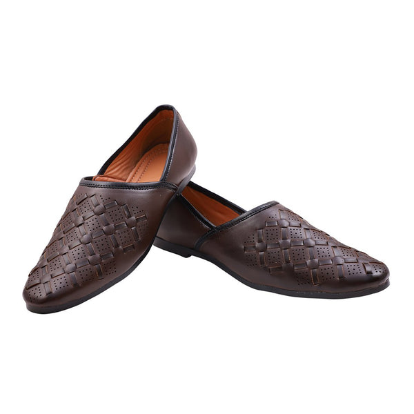 Treemoda Brown Ethnic Juttis for Men/Boys