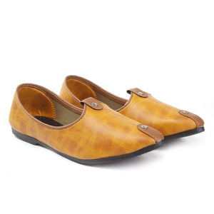 Treemoda Tan Ethnic Juttis for Men/Boys