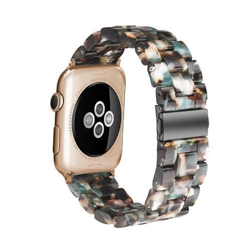 Resin strap for apple watch 4 band 42mm 38mm correa stainless steel buckle iwatch 3/2/1 44mm 40mm watchband accessories