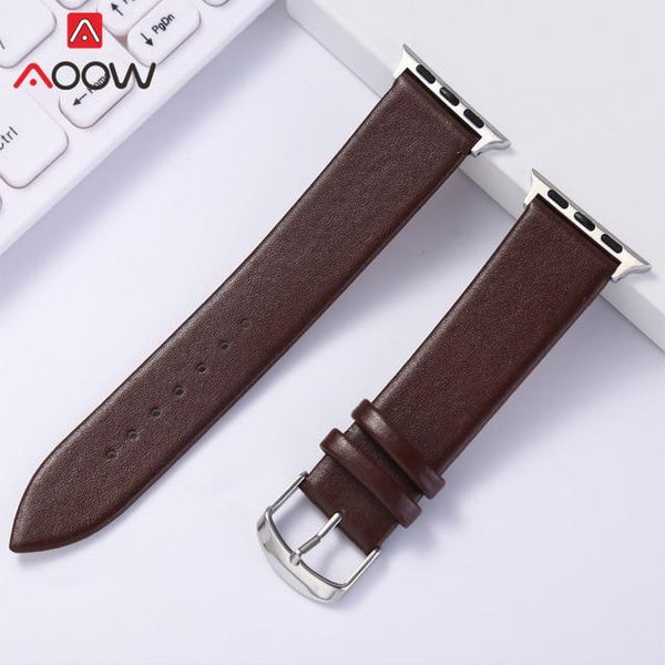 Soft Leather Watchband for Apple Watch 38mm 42mm Red Brown White Women Men Replacement Bracelet Band Strap for iwatch 1 2 3