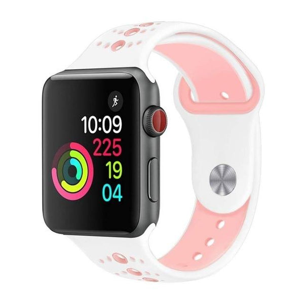 Sport Silicone Strap for apple watch band correa 4 44mm 40mm bracelet Wristband iwatch Series Nike Watchbands Accessories