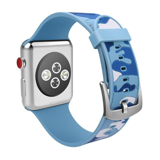 Sport Silicone strap For Apple Watch series 4 3 2 1 iWatch band 42mm 38mm 44mm 40mm correa Colorful rubber Bracelet clock belt