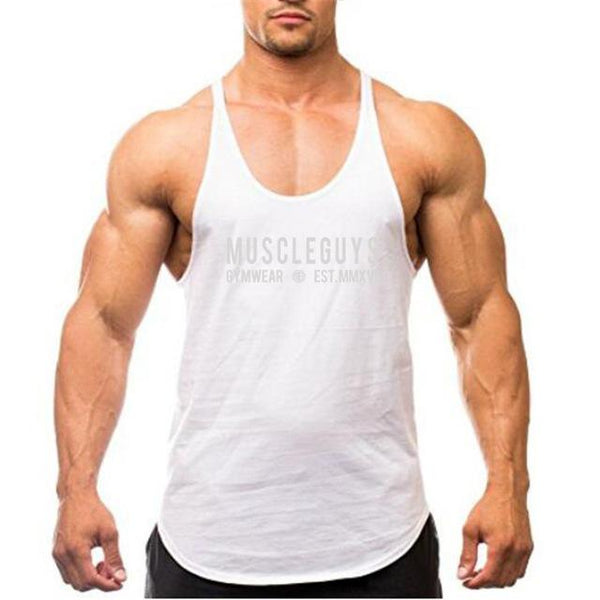 Summer Gyms Vest Men Fitness Bodybuilding Stringer Tank Tops Fashion Mens Crossfit Clothing Loose Y Back Sleeveless Shirts