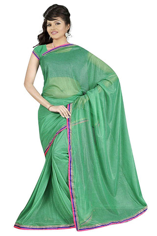 Green Lycra Saree