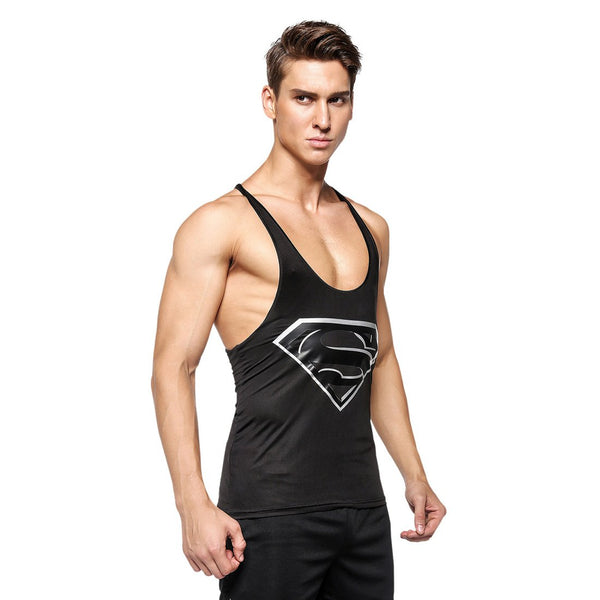 3D Gym Compression Tank Top For Mens