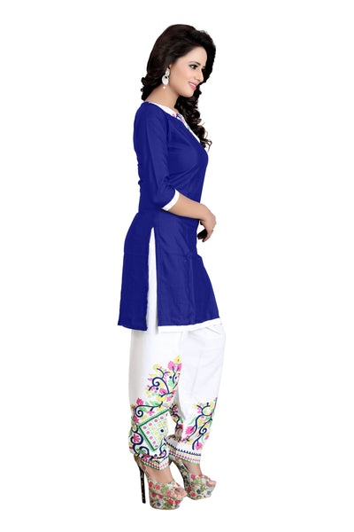 Women's Ethnic Unstiched Poly Crepe Dress Material
