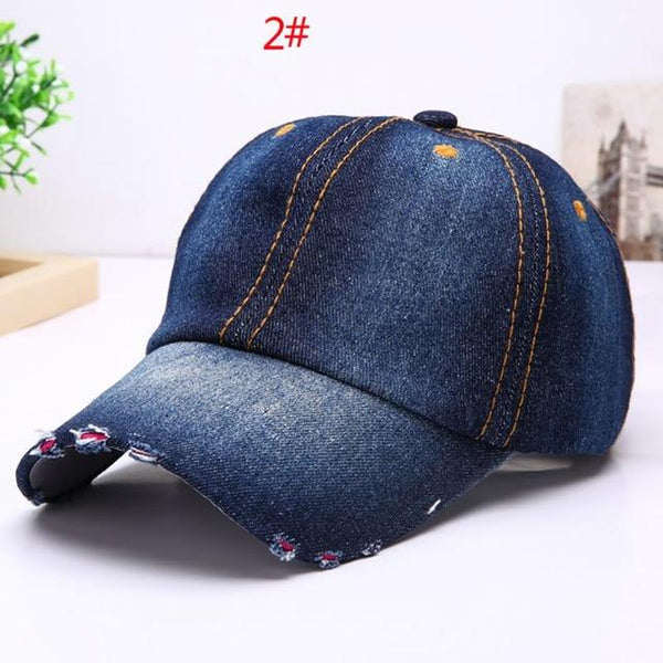 Vintage Cowboy Baseball Cap Female Male Adjustable Baseball Caps Fashion Unisex Jean Sport Hat Casual Women Men Cotton Denim Hat