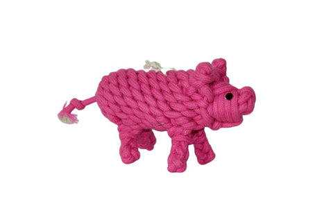Premium Quality Natural Rope Pig Toy for Dogs