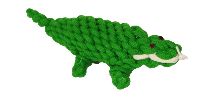 Premium Quality Natural Rope Alligator Toy for Dogs