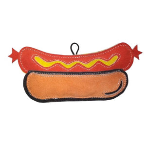 Premium Quality Natural Brunchies Hot Dog Leather Toy for Dogs