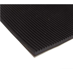 Ribbed Rubber Sheet Black 3mm x 1 Meter x 10 Meter - Industrial Rubber Sheet