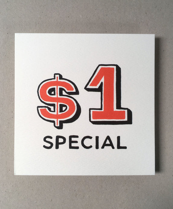$1 Special Print