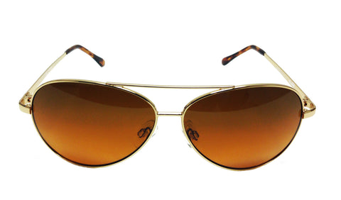 Polarized Gold Wire Aviator BluBlocker - 0605K