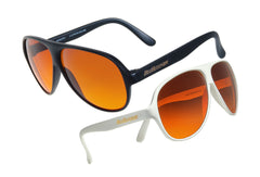 1 Black & 1 White Original Aviator BluBlockers - 2684K