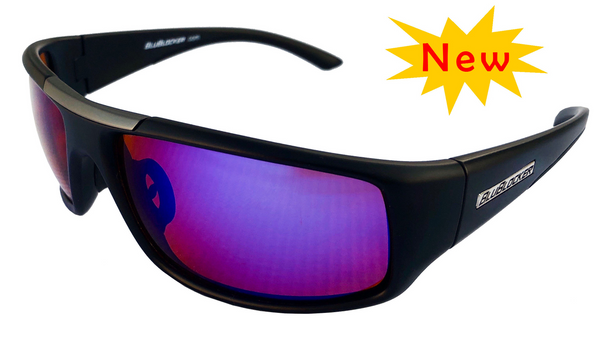 BluBlocker Black Nylon Sport Polarized with Blue Mirror Lens- 4204K