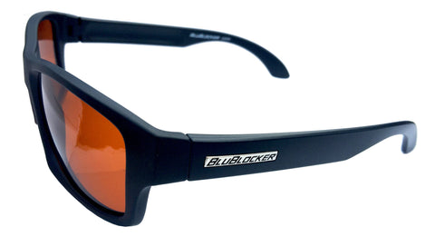 BluBlocker Black Matte Polarized Wayfarer - 4206K