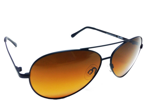 Polarized Black Wire Aviator BluBlocker - 0606K